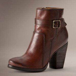 Frye Patty Riding Bootie in Redwood 6.5
